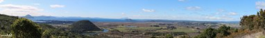 This is a panorama photo merge overlooking Lake Taupo and the town of Turangi (on the right). This is at the northern end of Tongariro National Park (and the southern end of Lake Taupo)