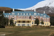 Chateau Tongariro is a hotel in Whakapapa Village. Whakapapa is a skiing village and also the site of the Tongariro National Park visitor center.