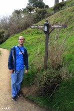 Philip by the path that leads to the Green Dragon pub