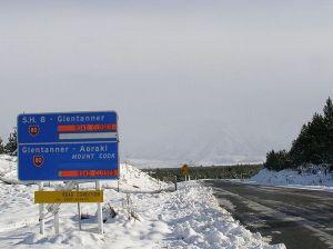 冬のニュージーランドの道路3