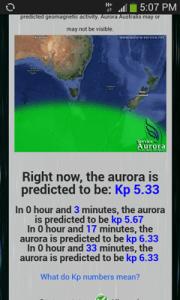 NZオーロラ予報サイト