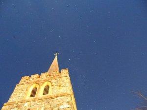 クイーンズタウン町の中から南十字星