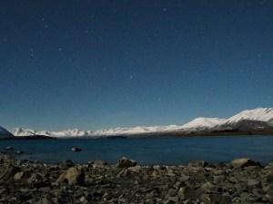月夜のテカポ湖月光写真