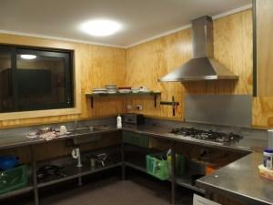ミルフォードサウンド共有キッチン