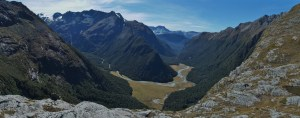 Routeburn Valley from Paddys Point Pano