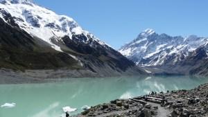 10月7日無風のフッカー氷河湖