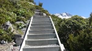 セアリーターンへの急な階段トラック