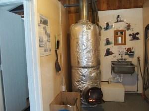 ガンズキャンプ温水シャワー用薪ボイラー