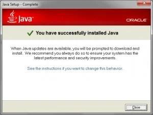 Java-install-klaar