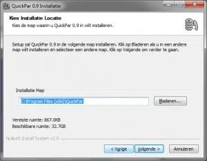 quickPar-install-folder