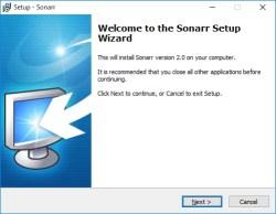 Sonarr installeren Windows