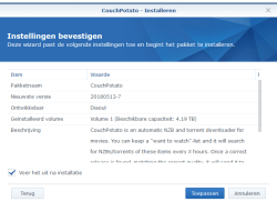 couchpotato installeren synology