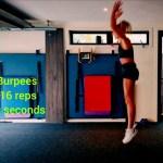 Burpees 16 reps