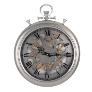 42156 HEREFORD POCKETED GEAR WALL CLOCK - FROSTED, MEDIUM