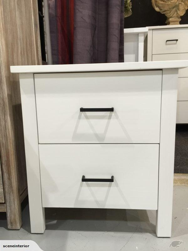 Emers solid wood bedside table drawer