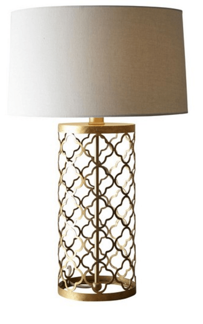 SL2001  TABLE LAMP GOLD/CREAM
