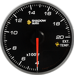 Shadow Pro 2.0 52mm Sports Meter -- Exhaust Temp BK