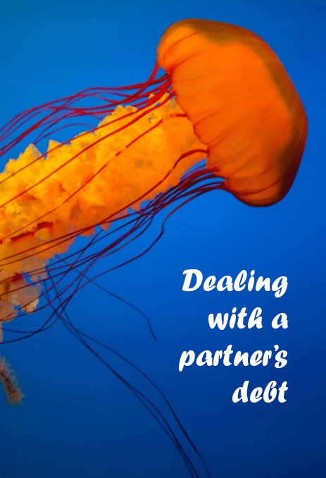 Dealing with a partner who's in debt