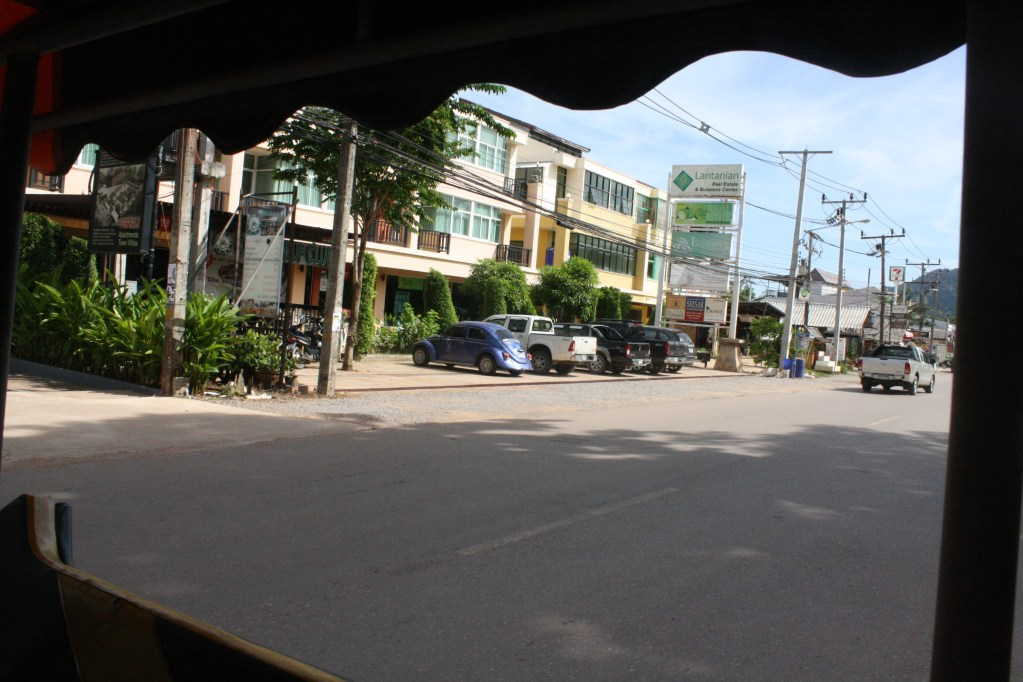 view from inside tuktuk thailand