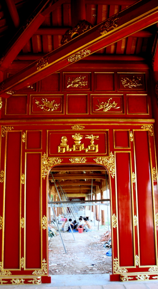 Imperial City red building, Hue