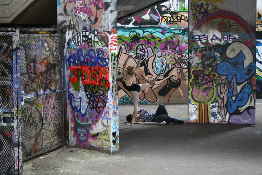 london southbank skate park ballerina photo shoot