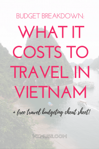 RTW BUDGET BREAKDOWN WHAT IT COSTS TO TRAVEL IN VIETNAM