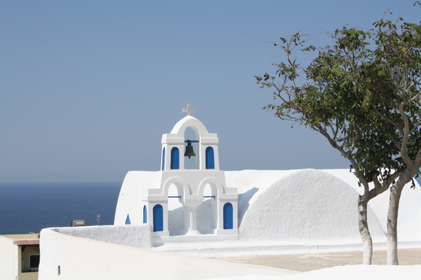 Santorini's brilliant whitewashed architecture
