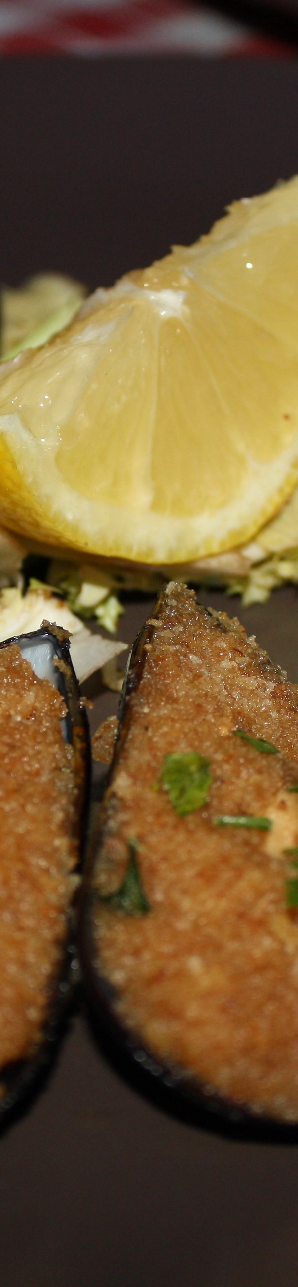 baked crumbed mussels naples
