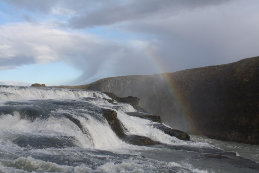 gulfoss waterfall iceland golden circle
