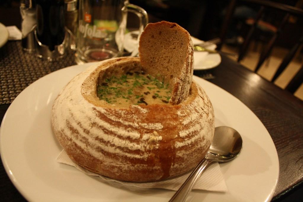 bread bowl soup prague