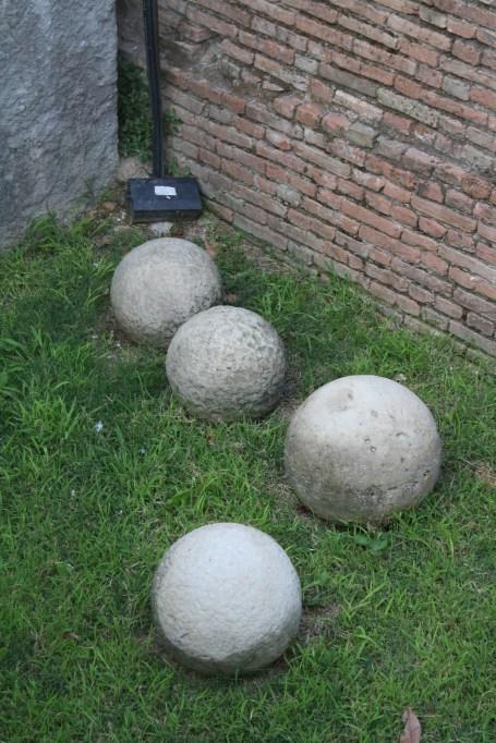 cannonballs city walls bologna