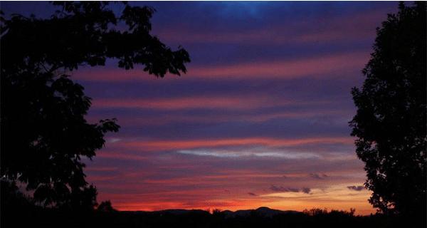 italy red purple sunset streaked sky