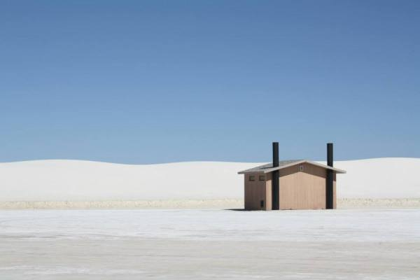 The magical, mystical white sands in New Mexico - hut included