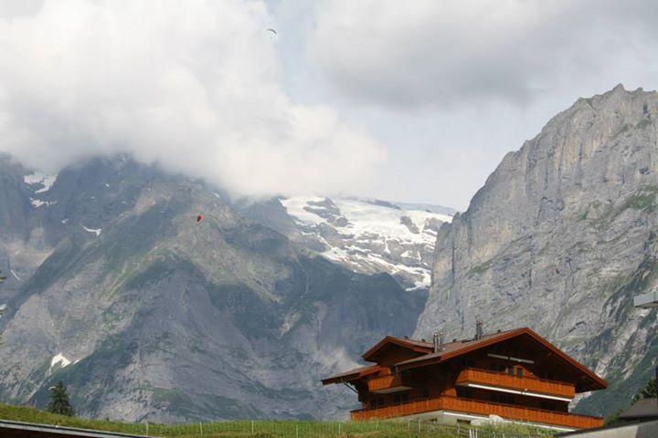 The alpine village of Grindelwald, Switzerland