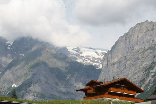 The alpine village of Grindelwald, Switzerland