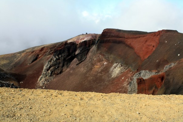 Tongariro Alpine crossing - Red Crater at summit