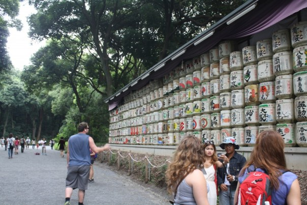 Just some sake barrels in the park, enroute to Meiji Shrine