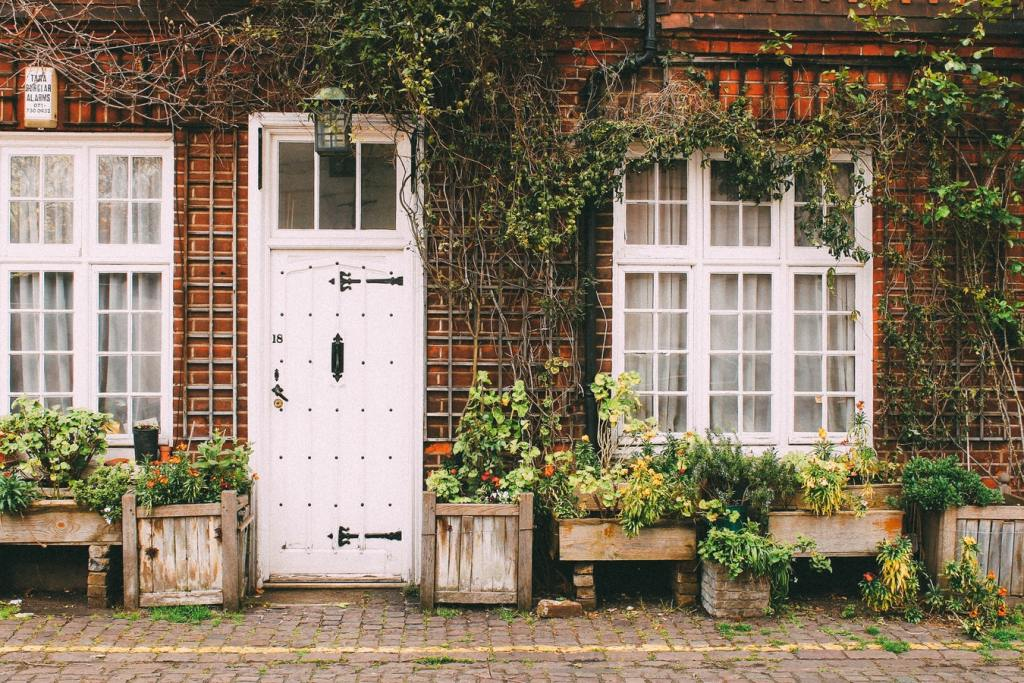 Cute house with charming front door