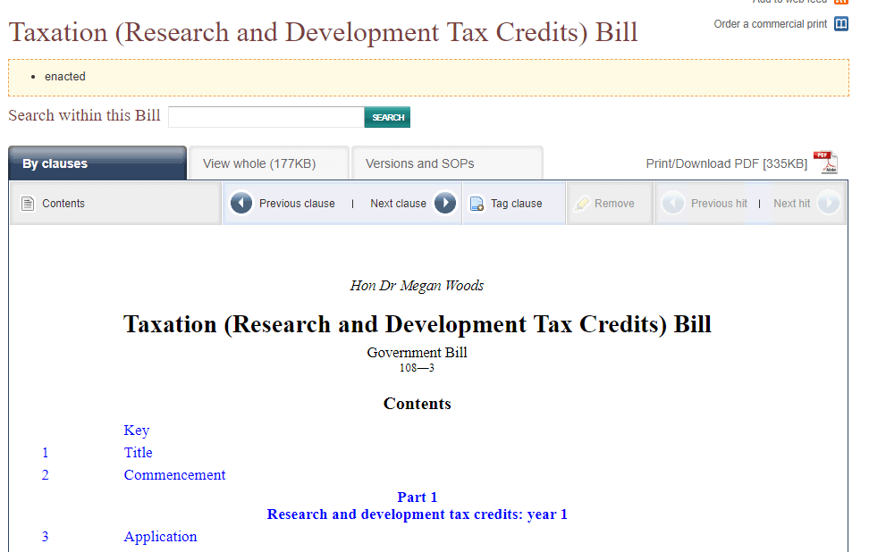 New R&D tax credits a backward step for Commercial Software* development
