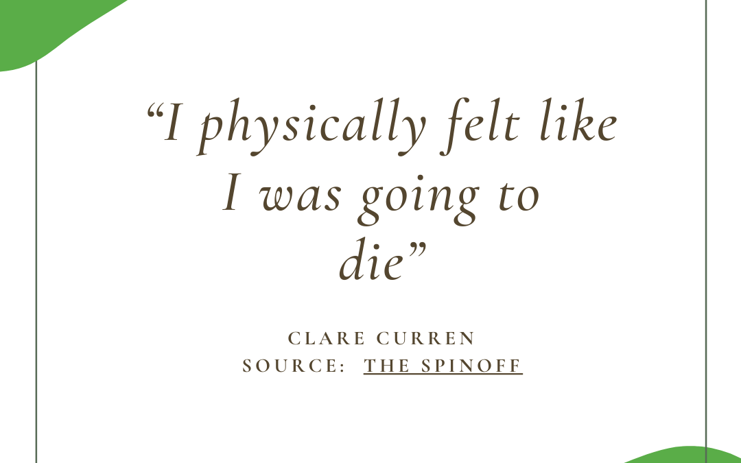 """I physically felt like I was going to die"""