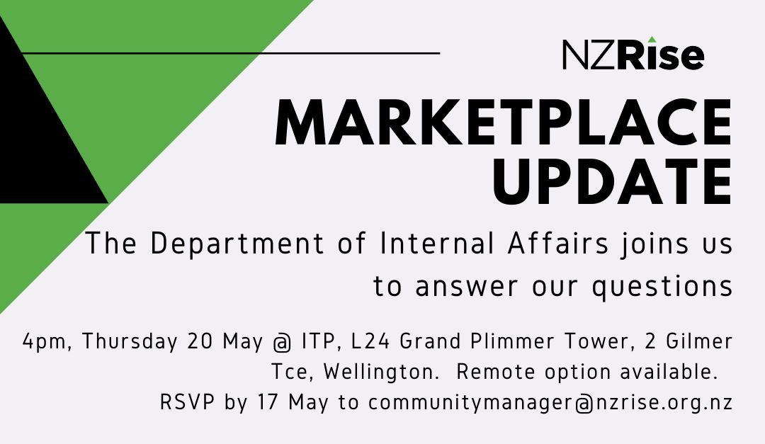 Event:  Marketplace Update, 4pm May 20