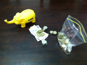 Pro Tip - Don't get a money box with legs. The coins get stuck in them.