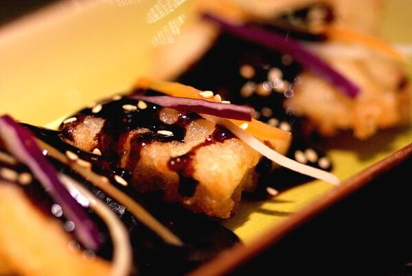 BBQ Sauce on Crispy Fried Fish