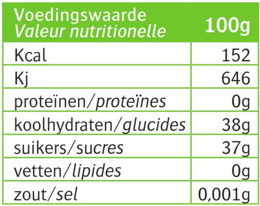 Voedingswaardetabel_Bezegaard-Sinaasappelmarmelade-Bitter