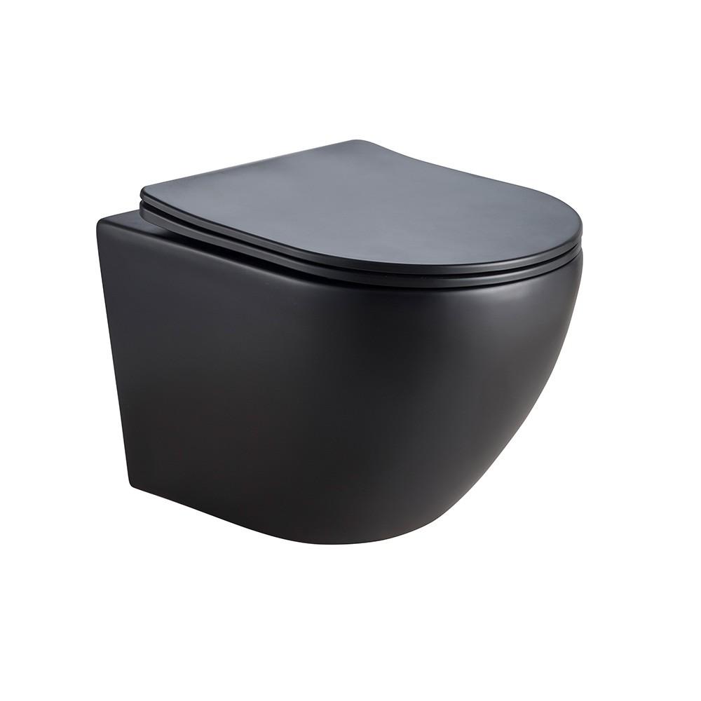 wc suspendu noir sans bride
