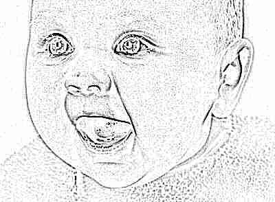 Малыш красивый с открытым ртом