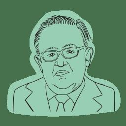 Illustrerad bild på Martti Ahtisaari