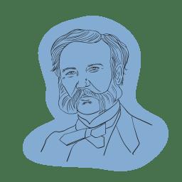 Illustrerad bild av Henri Dunant