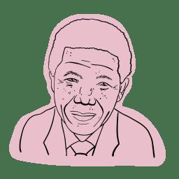 Illustrerad bild av Nelson Mandela