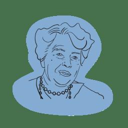 Illustrerad bild av Eleanor Roosevelt